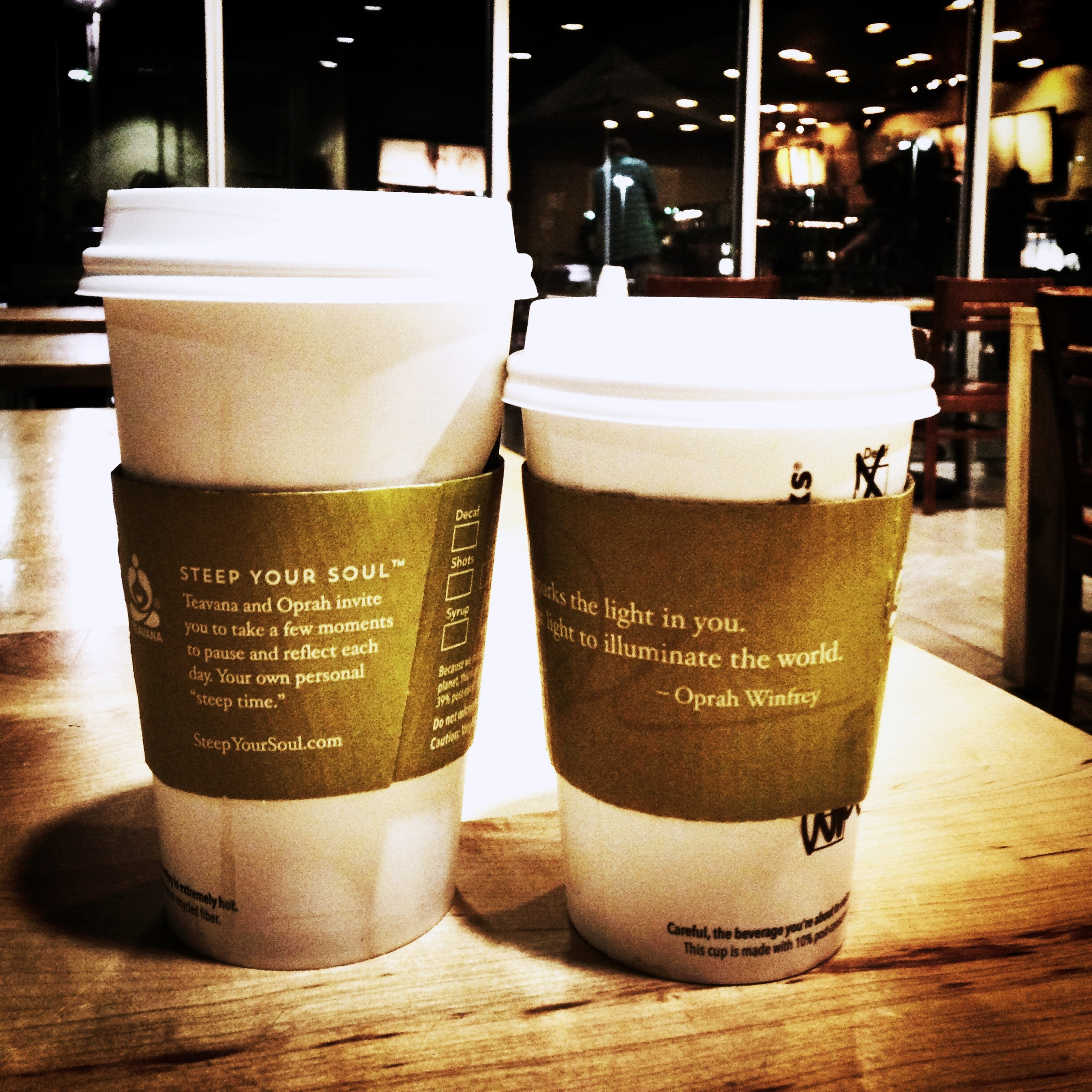 coffee cups on date